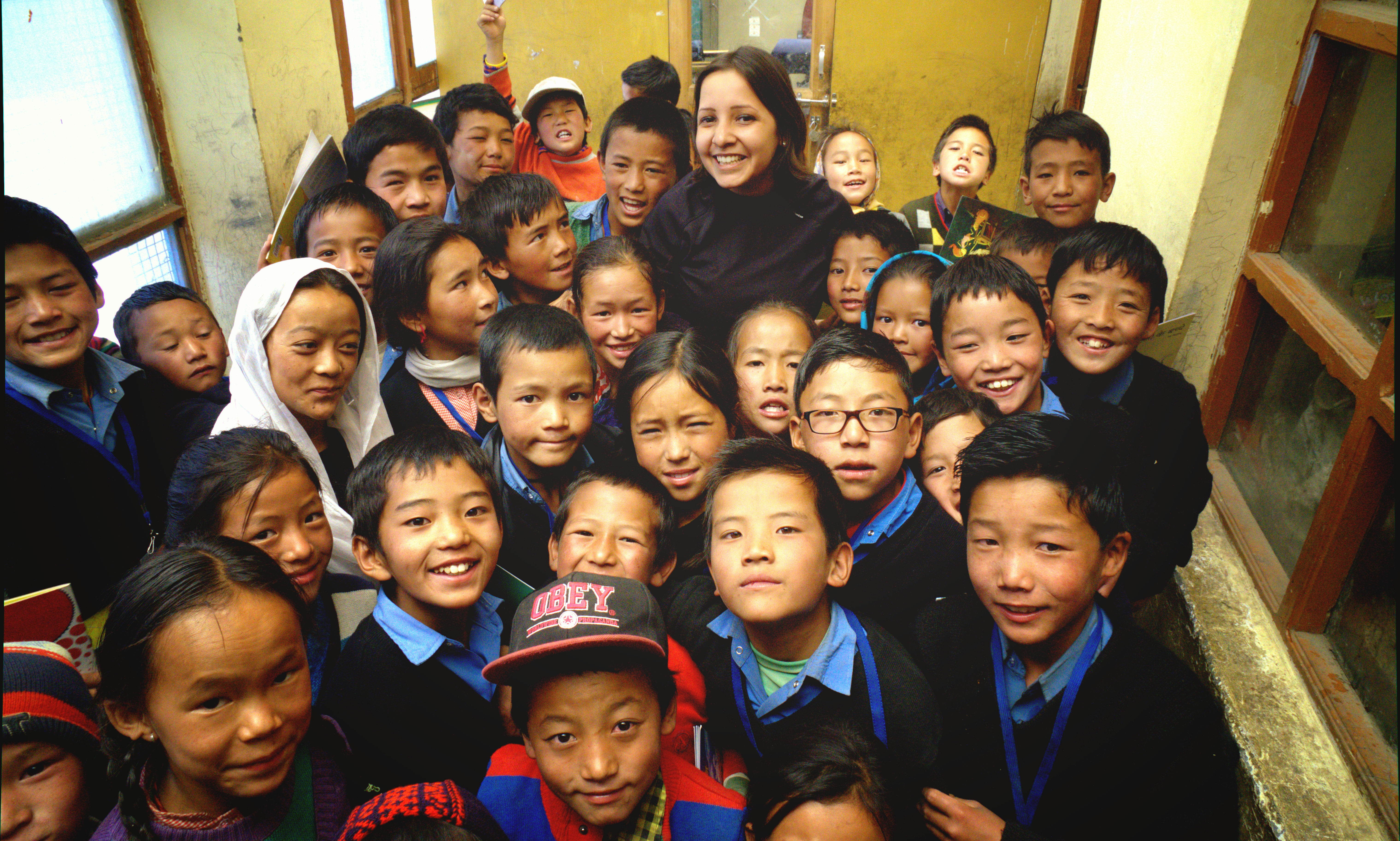 Ruchi Dhona during a visit to one of the schools.