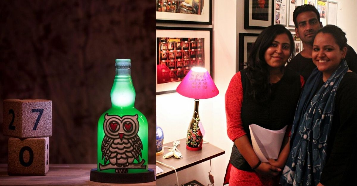 These Ex-Journos Upcycled 5 Lakh Glass Bottles to Bring Beauty to Your Home Decor