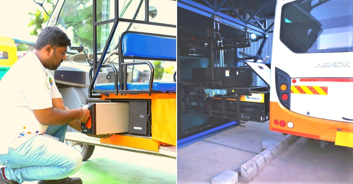 B'luru Startup's Swappable Tech Can Turn India's Buses & Autos 100% Electric