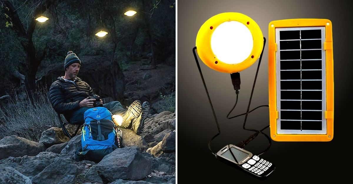 This Solar Charger-Lamp Will Power Your Outdoor Trips Non-Stop for Just Rs 1799!
