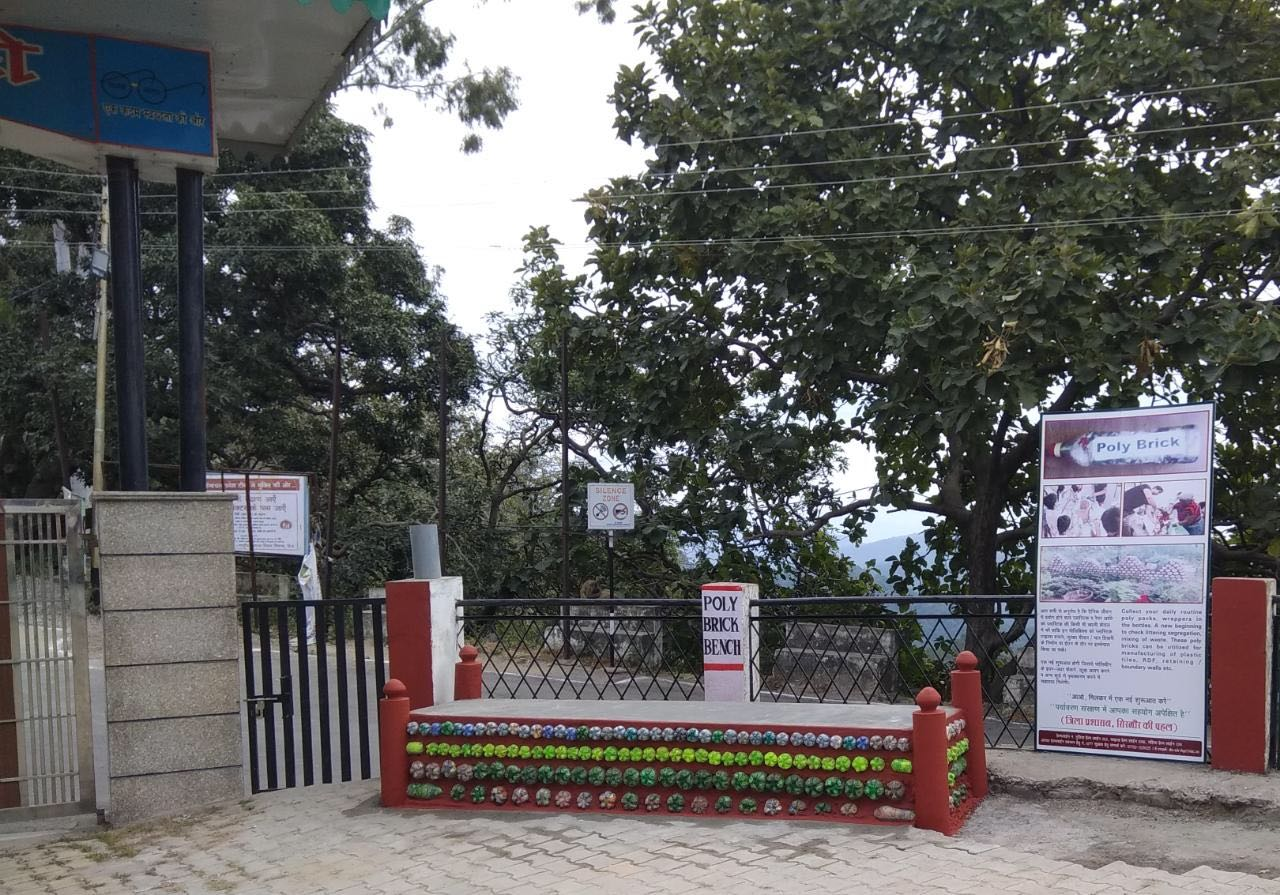 Himachal IAS Uses 7000 Kgs of Plastic Waste To Make Benches, Roads & Toilet!