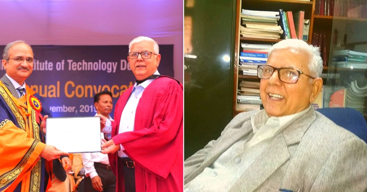 Learning Never Stops: At 77, This Retd. Engineer is One of IIT Delhi's Oldest PhDs
