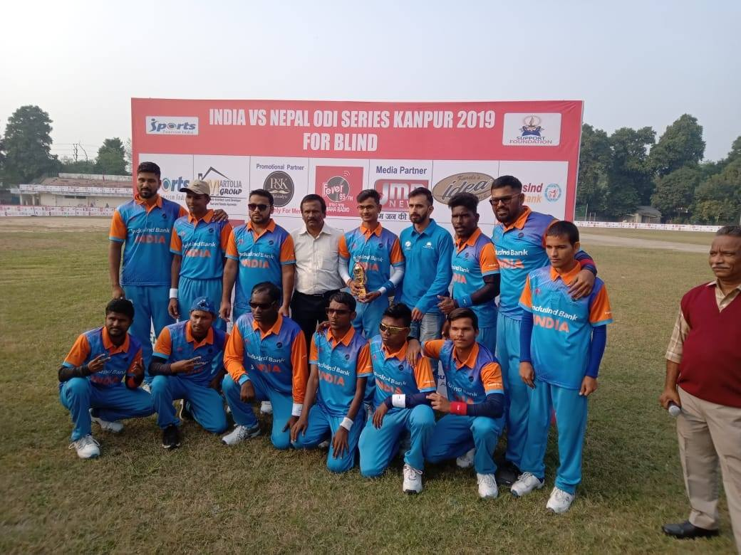 Sunil Ramesh recently led his side to series win versus Nepal. (Source: Facebook/Cricket Association for the Blind in India)