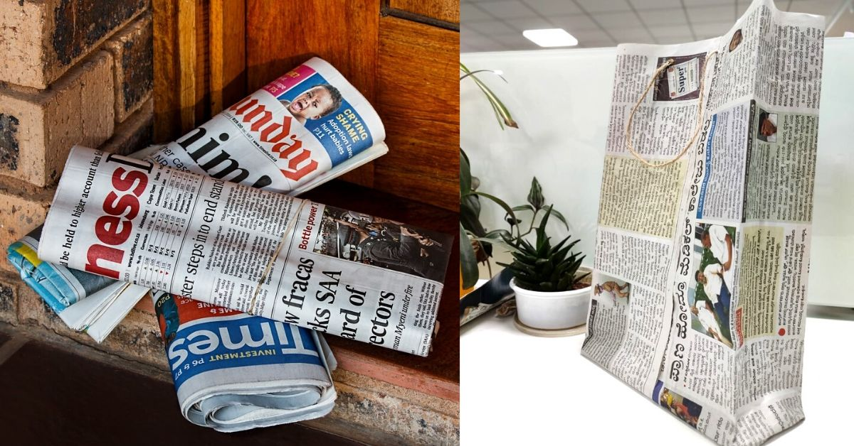 How To Make a Paper Bag From Old Newspaper in 5 Minutes