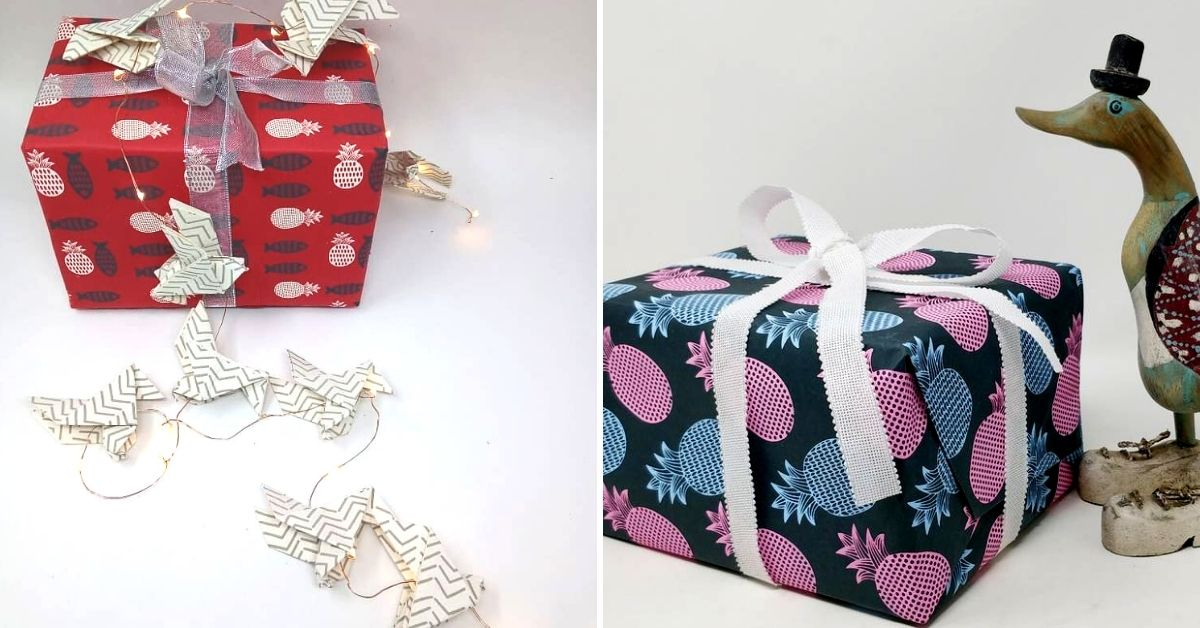 sustainable gift wraps