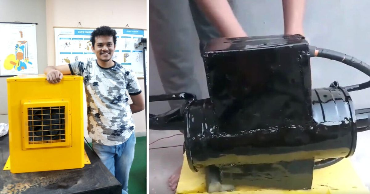 B'luru Student's Innovation Filters Soot From 1 Crore Litres of Polluted Air In a Day!