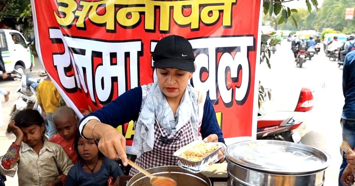 Single Mom's Rajma-Chawal-On-Scooter Feeds Scores of Delhi's Street Kids & Beggars!