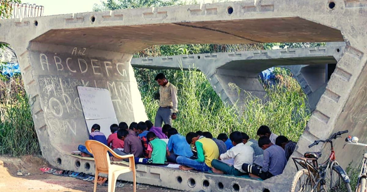 This 25-YO Student Teaches 250 Slum Kids Under a Flyover Slab in Delhi Every Day!