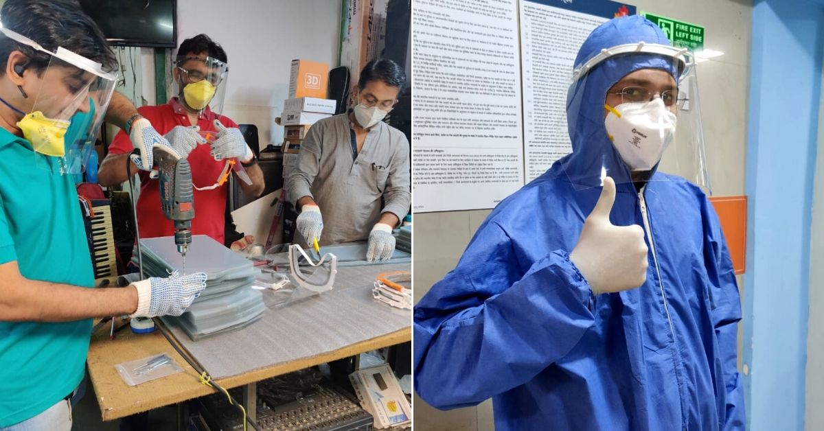 COVID-19: Mumbai Brothers 3D Print Face Shields for Docs; Supply 5000 Units in 7 Days