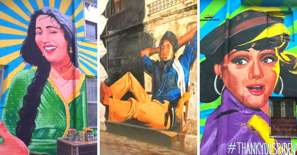 Once A House Painter, This Artist's Stunning Bollywood Murals Are A Must-See in Mumbai