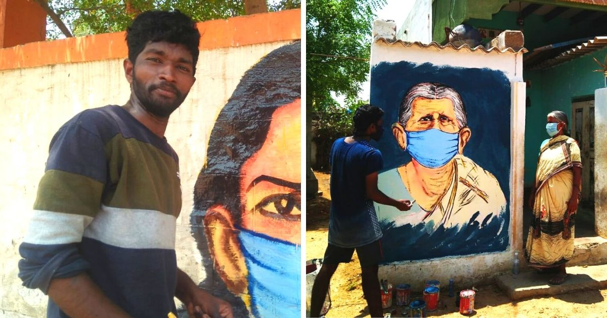 This 25-YO's Innovative Paintings Are Educating 50 Andhra Villages About COVID-19