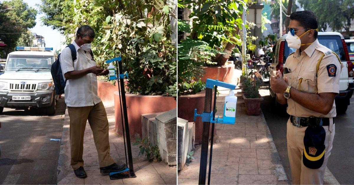 Mumbai Start-Up Designs Hands-Free Sanitizing Station; Installs 1050 Across City