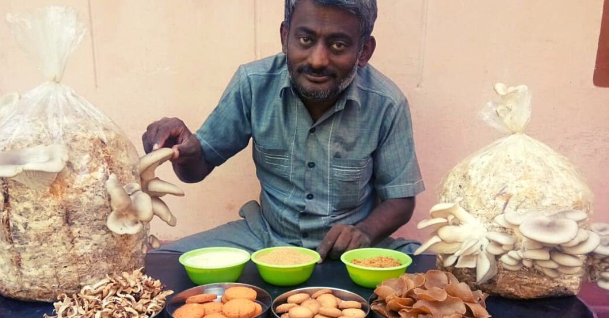 Disabled Man Quits Job To Turn Mushroom Farmer, Earns Profit & Awards