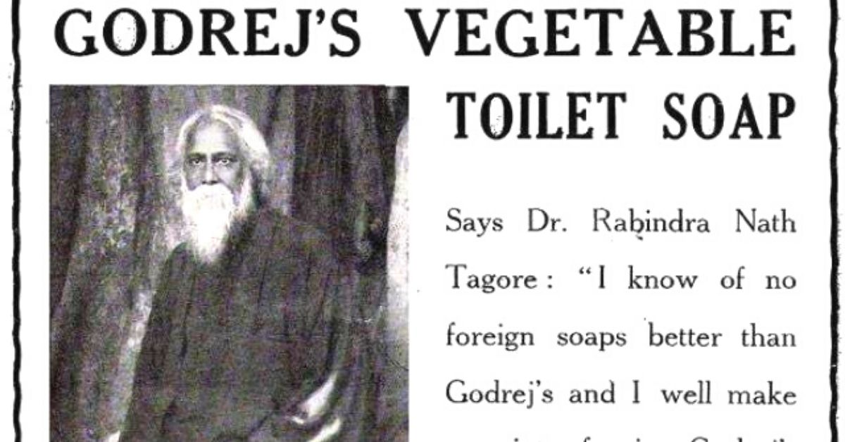 Indian Firm Made the World's First Cruelty-Free Soap, Got Tagore to Model For It