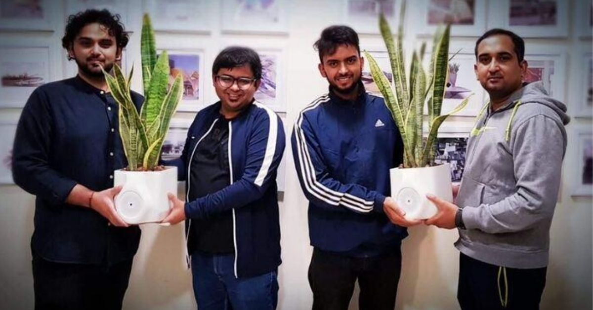 Delhi Startup's 'Smart Plant' Can Purify The Air in Your Room in Just 20 Minutes