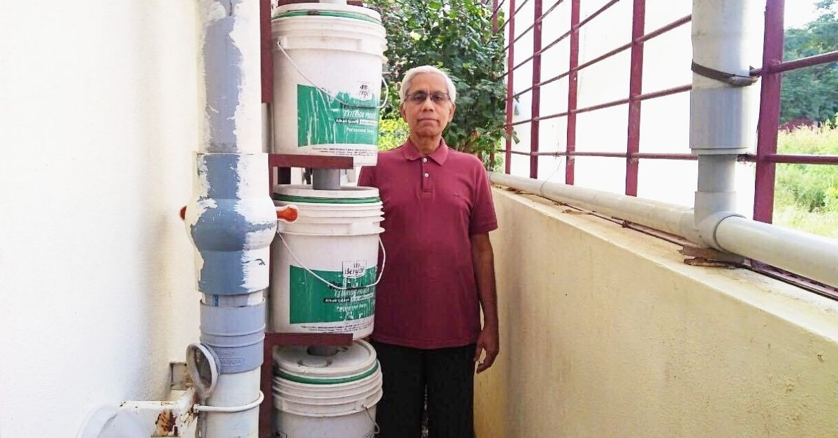 66-YO Bengalurean Develops Low-Cost RWH System, Has Not Purchased Water For 6 Years