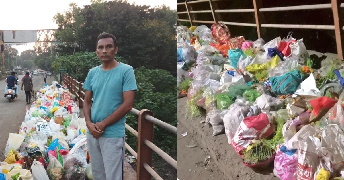 Stopping People From Throwing Trash Into Godavari, This Man Is The Hero India Needs