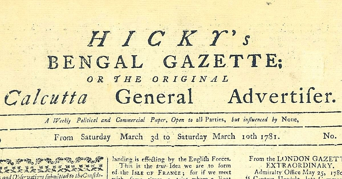 How an Irishman Challenged the East India Company With India's First Newspaper