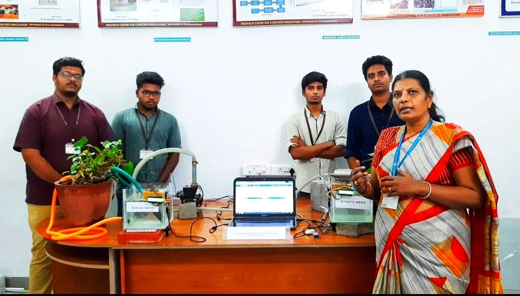 Tamil Nadu Students' Magnetic Solution Turns Hard Water Soft, Increases Crop Yield