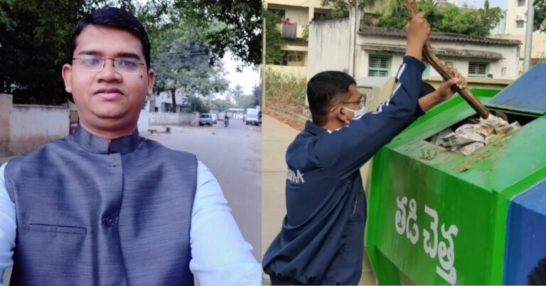 IAS Officer Has The Best 'Return Gift' For Those Who Dump Garbage on Street Corners