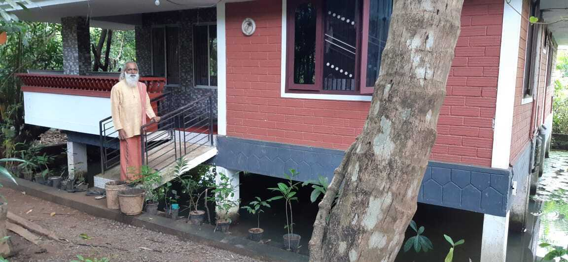 Kerala Man Builds Low-Cost, Naturally-Cool Home in a Pond, Will Teach You as Well