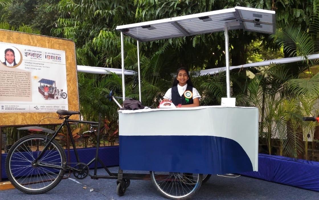 Solar Ironing Cart