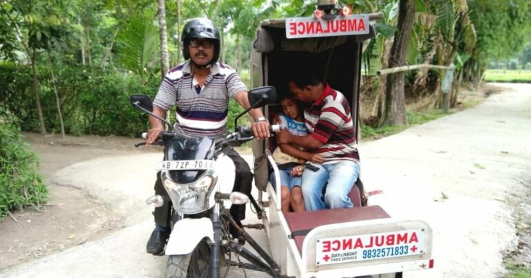 'Ambulance Dada' Ferries Over 5500 Patients to Hospitals On His Motorbike